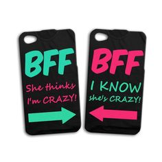 BFF Best Friends Cute Funny iPhone Case 4, 4s, 5, 5s, 5c
