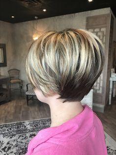 Short haircut for women.