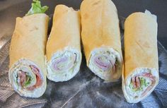 Rezept: Wraps mit Lachs und Käse/Schinken