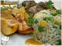 ΨΑΡΟΝΕΦΡΙ ΛΕΜΟΝΑΤΟ ΚΑΤΣΑΡΟΛΑΣ!!! Greek Recipes, Food To Make, Recipies, Rice, Meat, Chicken, Cooking, Recipes, Beef
