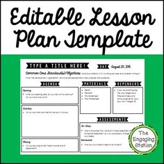 You will receive a free lesson plan template that you can completely customize to your needs.There are sections for Agenda activities, Common Core State Standards, Materials, Reminders, and Assessments.There are also editable drop-down menus to save you time in choosing dates and CC standards!Please read: If the fonts are not displaying properly for you, please make sure that you have installed the appropriate KG Fonts (free for personal use): KG Defying Gravity andKG Always a Good TimeWant…