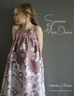 NEW Summer Maxi Dress pattern and tutorial PDF easy sew long tank dress tunic. Would make a great Night gown. Girls Maxi Dresses, Summer Dresses, Fashion Dresses, Crossover, Maxi Robes, Summer Maxi, Dress Patterns, Sewing Patterns, Sewing Ideas