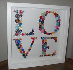 crafts gifts homemade  'LOVE' button by lea