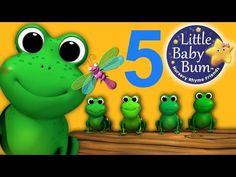 Five Little Speckled Frogs Nursery Rhymes From Littlebabybum Youtube Nursery Rhymes Frog Activities Frog Nursery