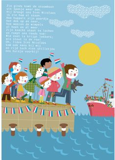 ~Leuke Sint A4 poster om gratis te download van  Caroline Ellerbeck~