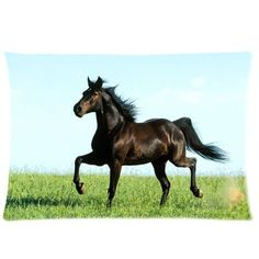 Custom Horse Pillowcase Standard Size 20x30 Soft Pillow Cover Case PGC-1181 ** Amazing deals just a click away : Decorative Pillows