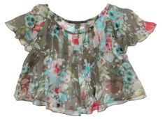 Flower Print Sheer Camisole