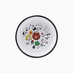 LINE Friends x Muurla Enamel Plate 24cm Anime 100% Authentic Official Goods  | eBay