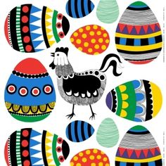 rairai-textile for Easter on the table -