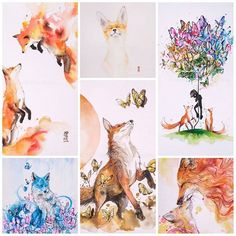 jongkie: Well ... if you into the foxes don't worry... you can get this one. Just click link on my profile  #watercolor #fox #foxy #illustration by #jongkie
