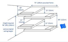 An overlapping, L shape built in bunk bed design for 4 beds.