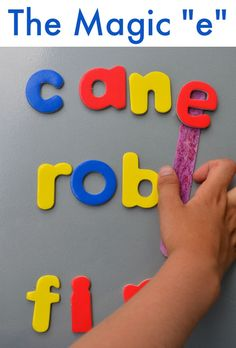 """Make a """"Magic E"""" -  a playful way to reinforce the reading rule! Great for early readers"""