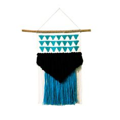 "tyler / wall hanging weaving tapestry with tassels / textile art  from habitstudio on etsy.com $165.00  12"" x 20"" including fringe"