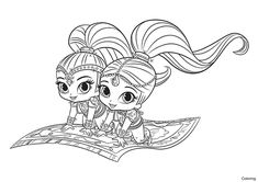 Shimmer And Shine Coloring Pages Printable Sheets For Kids Get The Latest Free Images Favorite