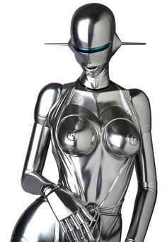 Sorayama's sexy robot standing model cm).Sold out at Cjmart. Sci Fi Characters, Fictional Characters, Vaporwave Wallpaper, Thing 1, Suit Of Armor, Dark Eyes, Futurama, Pretty Eyes, Dark Circles