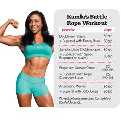 Must Try Moves to . Burn Fat Fast Muscle and Fitness Hers burn fat quick Battle Rope Workout, Strength Workout, Toning Workouts, Easy Workouts, Workout Circuit, Workout Guide, Workout Challenge, Fitness Facts, Fitness Fun