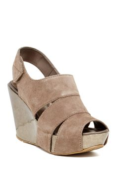 Good Sole Wedges in Tan Suede