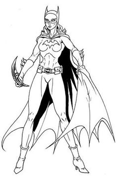 10 Beautiful Free Printable Batgirl Coloring Pages Online