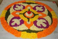 Worlds Largest collection of Pookalams (Flower Carpet): July 2013 Onam Pookalam Design, Tree Skirts, Worlds Largest, Carpet, Christmas Tree, Kerala, Holiday Decor, Flowers, Blog