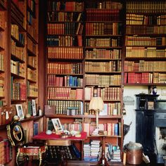 A bibliophile's delight: the library at Westport House, County Mayo.