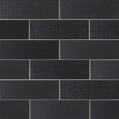 Bring a luxurious and a prepossessing appearance to the walls of your home when using this MSI Citylights Ink Mix Glossy Glazed Ceramic Wall Tile. Black Subway Tiles, White Wall Tiles, Black Tiles, Glazed Ceramic Tile, Ceramic Subway Tile, Ceramic Floor Tiles, Bathroom Fireplace, Fireplace Facade, Shower Surround