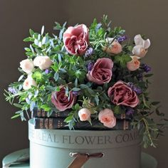 The Real Flower Company Scented Antique Rose Posy