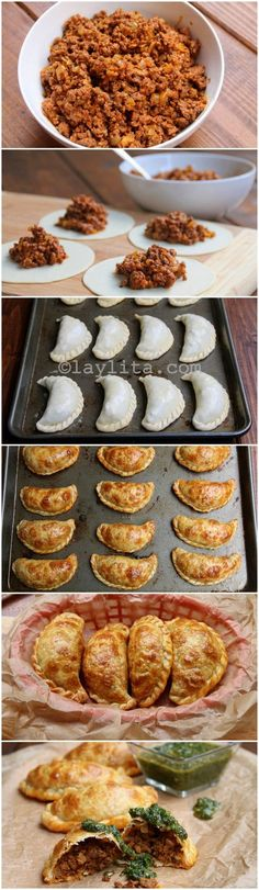 Beef empanadas preparation