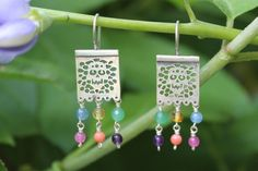 Silver Sugar Skull & Gemstone Earrings Papel Picado Mexican Party Banners Muerto