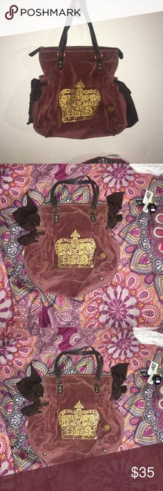 Authentic Juicy Couture Purse. Like new Authentic Juicy Couture Purse. Like new. Bought it from platos closet and wore  it once. In excellent condition. Suede material. Clean inside and out. Juicy Couture Bags Shoulder Bags
