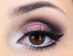 maquiagem sombra rosa delicada