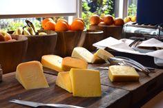 Dutch cheese on breakfast and brunch buffet at Bluespoon restaurant #Amsterdam