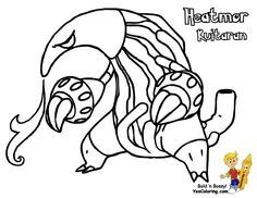 Pokemon Coloring Pages Hydreigon
