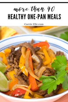More than 40 delicious and healthy one-pan meals all in one place! One Pot Dinners, One Pan Meals, Easy Meal Plans, Free Meal Plans, Easy Recipes, Dinner Recipes, Cooking Recipes, Clean Eating, Healthy Eating