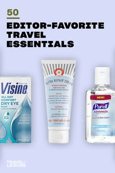 Below, we're sharing our favorite tried and true products to help you have more energy and less stress on your next trip. #travelessentials #packinglist #summerbucketlist #travel #hacks #packing #tips