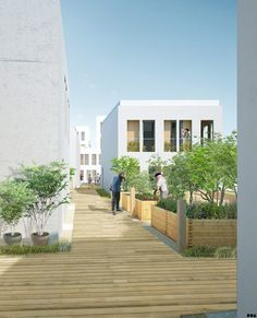 SOA Architects Paris > Projects > ZAC DES GIRONDINS - ÎLOT PRE GAUDRY
