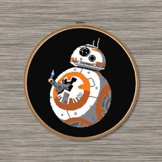 "PDF Cross Stitch Pattern: BB8 Thumb's Up - Inspired by Star Wars ""The Force Awakens"""