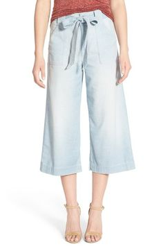 7 For All Mankind® Crop Chambray Palazzo Pants available at #Nordstrom