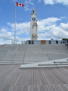 Stairs with ramp at Plage d'Orloge, Montreal, by Claude Cormier Architects. Visit the slowottawa.ca boards  http://www.pinterest.com/slowottawa/