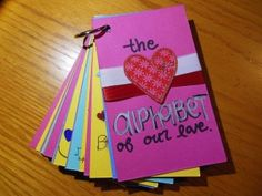 This thoughtful handmade love book is easy, fun and cheap to make. It's a wonderful gift for your other half, parents, grandparents, friends or anyone you love!