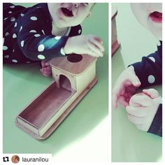 Love to see our little customers at play! Thanks for sharing @lauranilou  A peine reçu déjà adoptée! 😍 Merci @maninemontessori   Thanks, it's a perfect permanence box !