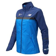 New Balance 73210 Women's NYC Marathon Windcheater Jacket - Blue  (WJ73210VVCT)