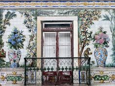 The tiles you'll see throughout Lisbon and the rest of Portugal are called azulejos, painted ceramic glazed with tin.