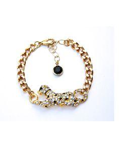 Crystal Cheetah Bracelet