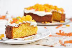 Herzfutter | Food-Blog : Mein Osterkuchen: Rüblikuchen mit Aprikosencreme