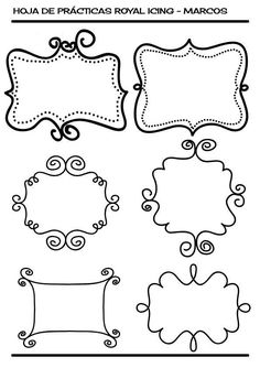 icing frames for name or monogramn
