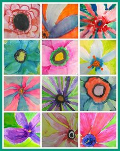 O'Keeffe inspired watercolors