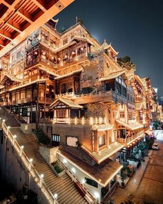 CHONGQING located in Chongqing China Photo via - Architecture and Home Decor - Bedroom - Bathroom - Kitchen And Living Room Interior Design Decorating Ideas - Beautiful World, Beautiful Places, Wonderful Places, Vacation Trips, Beautiful Landscapes, Modern Architecture, Cathedral Architecture, Beautiful Architecture, Night Life