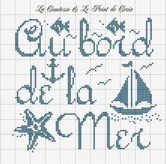 feeling like summer, cross stitch Nickles Nickles Valk Chuah seaside Cross Stitch Sea, Cross Stitch Charts, Cross Stitch Designs, Cross Stitch Patterns, Cross Stitching, Cross Stitch Embroidery, Wedding Cross, Charts And Graphs, Labor