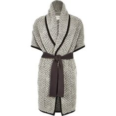 River Island Grey slouchy blanket jacket (€70) ❤ liked on Polyvore featuring outerwear, jackets, coats / jackets, grey, women, grey jacket, river island, river island jacket, tall jackets and gray jacket