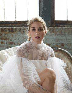 Iconic Olivia in Valentino: Olivia Palermo in Angelic white ruffles Maison Valentino.